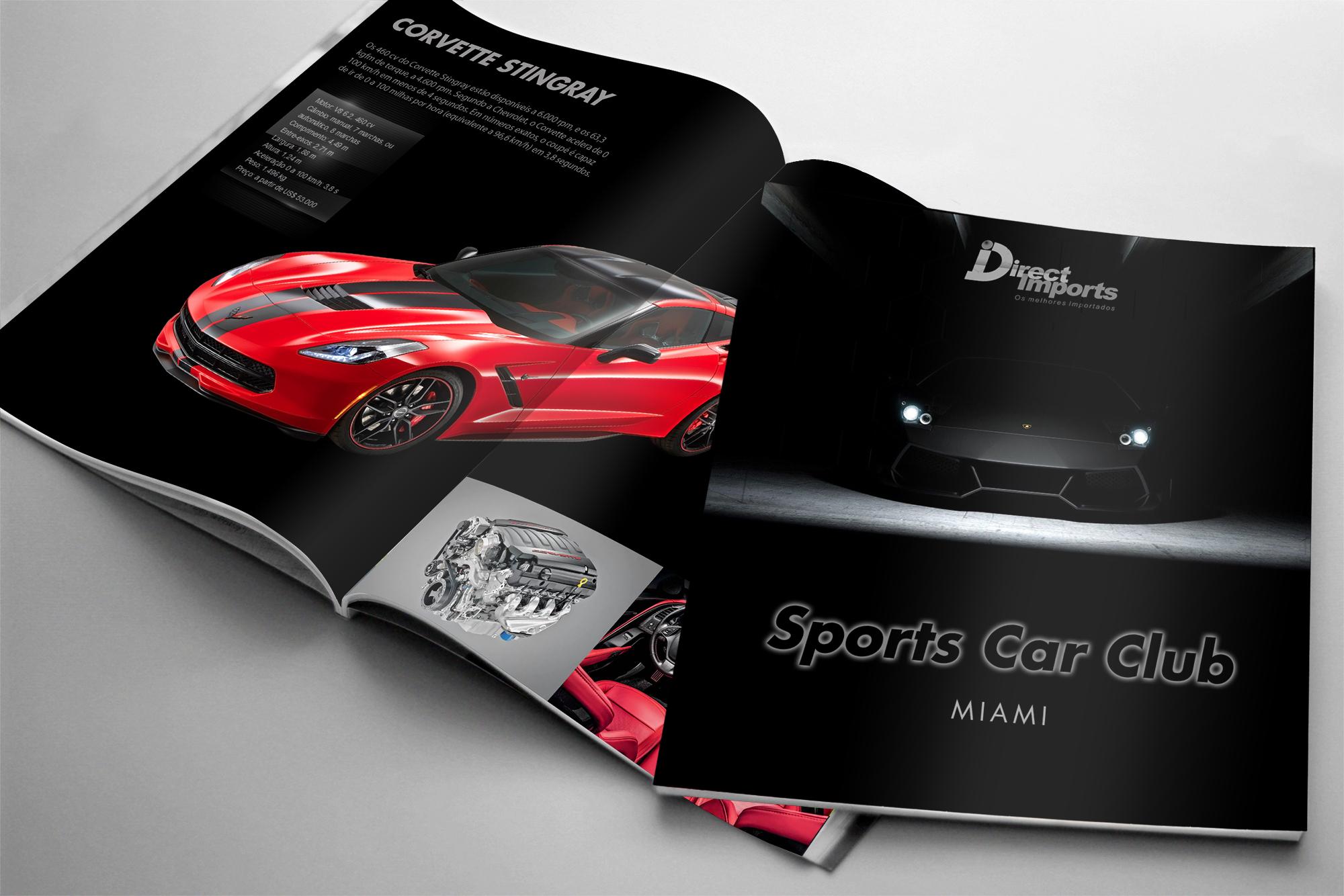 diagramação de catálogo carros