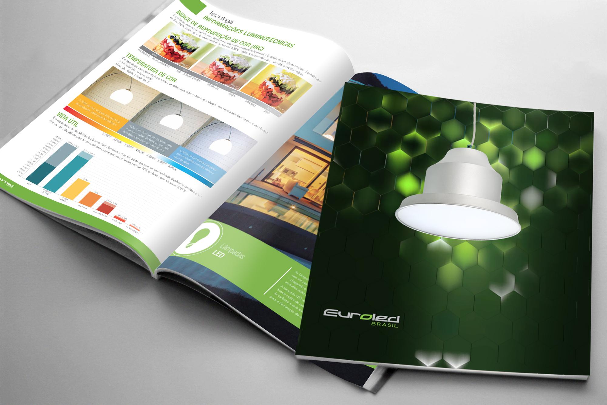 diagramação de catálogos lâmpadas led