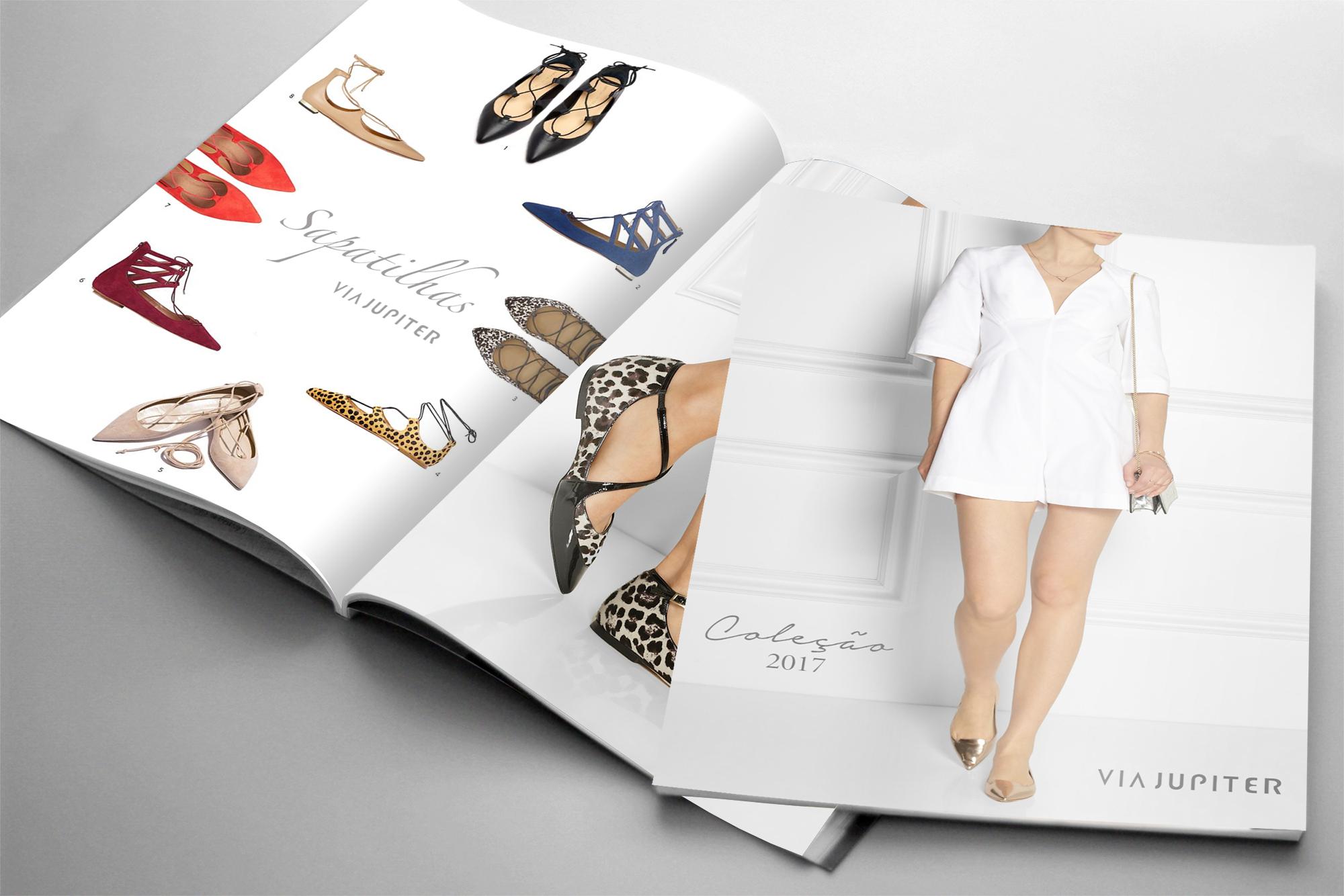 diagramação de catálogo sapatos