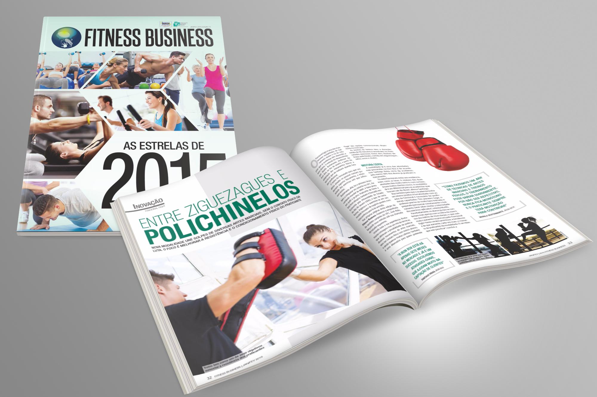 diagramação revista fitness