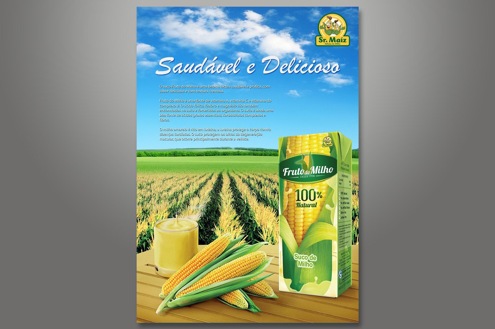 anúncio suco de milho