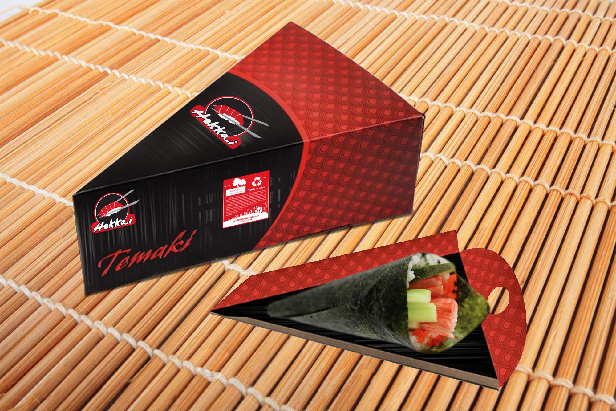 design de embalagem temaki