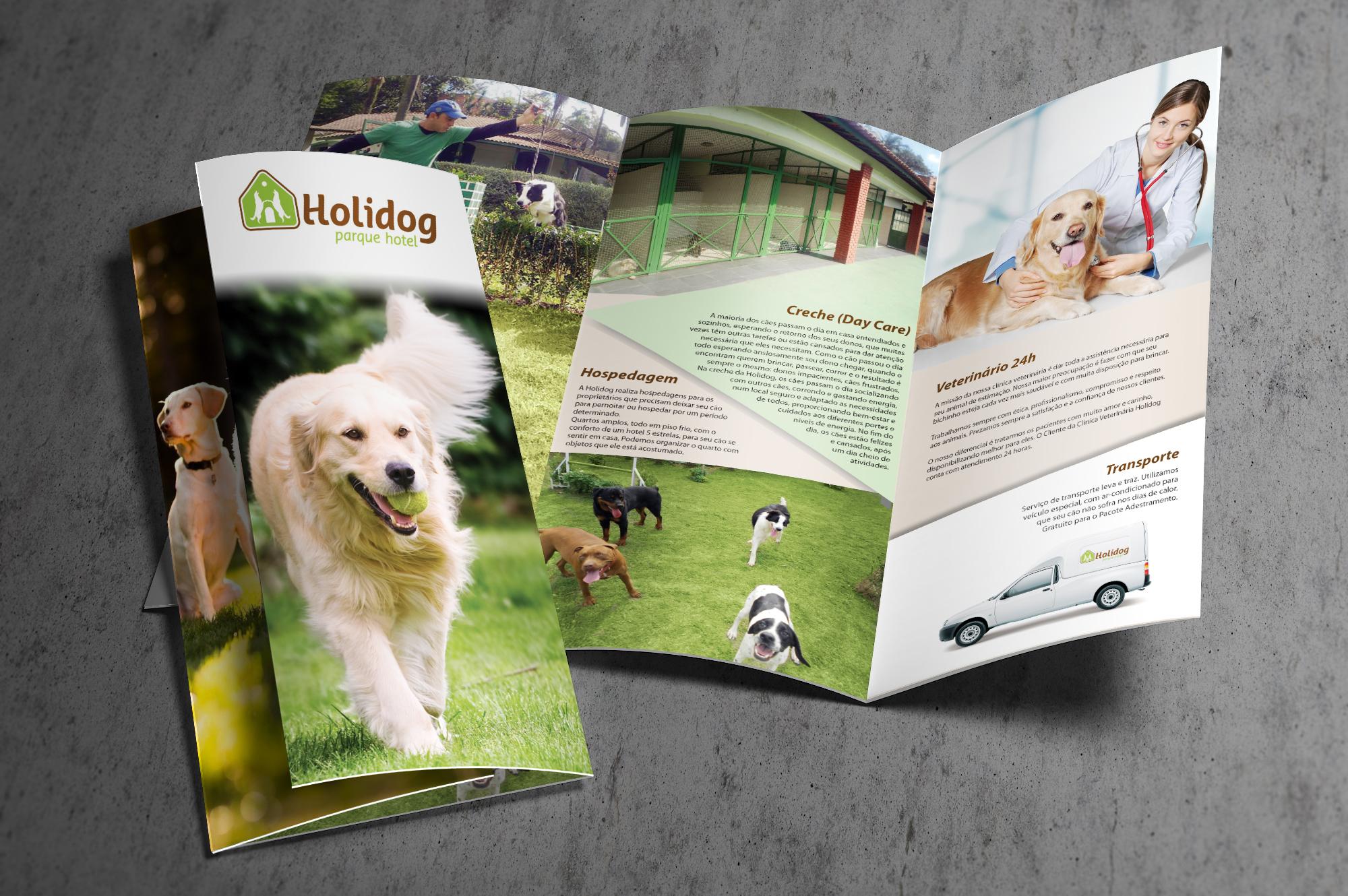 criação de folder pet shop