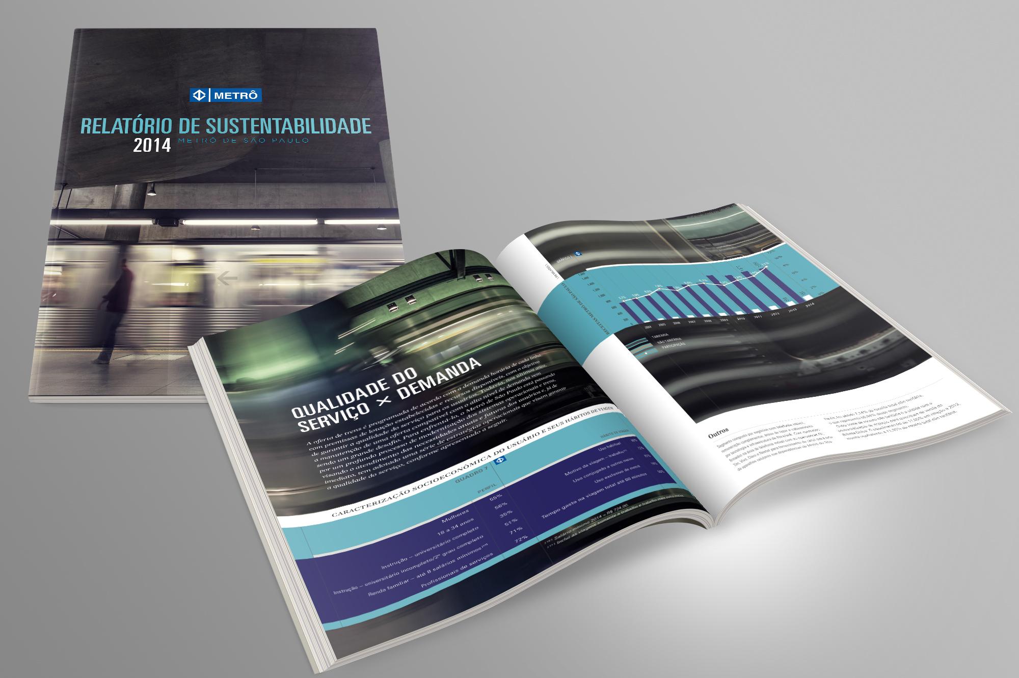 diagramação relatório de sustentabilidade