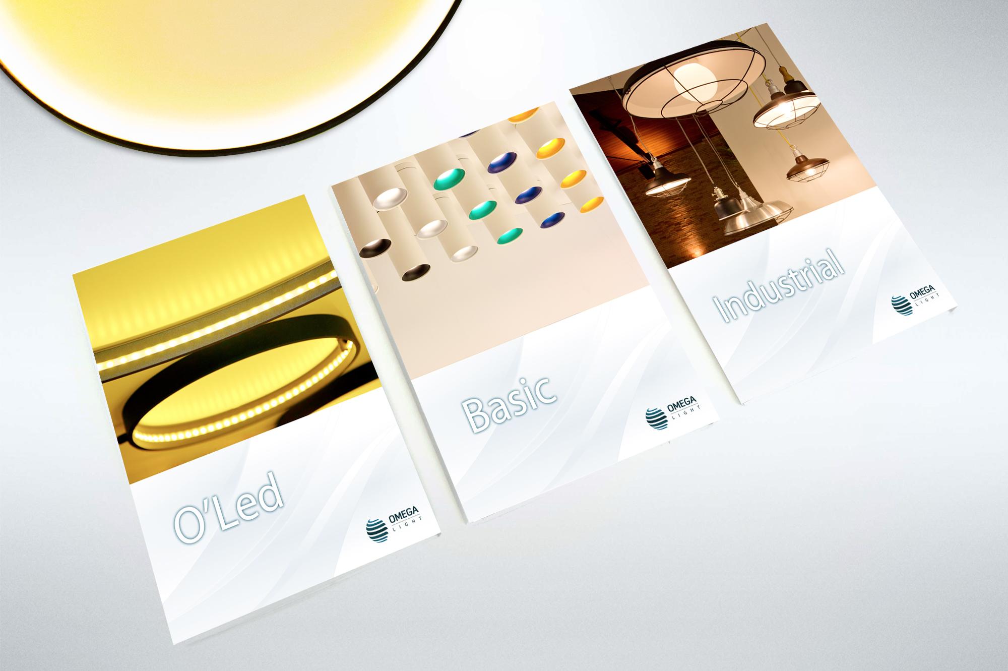 diagramação de catálogos iluminação