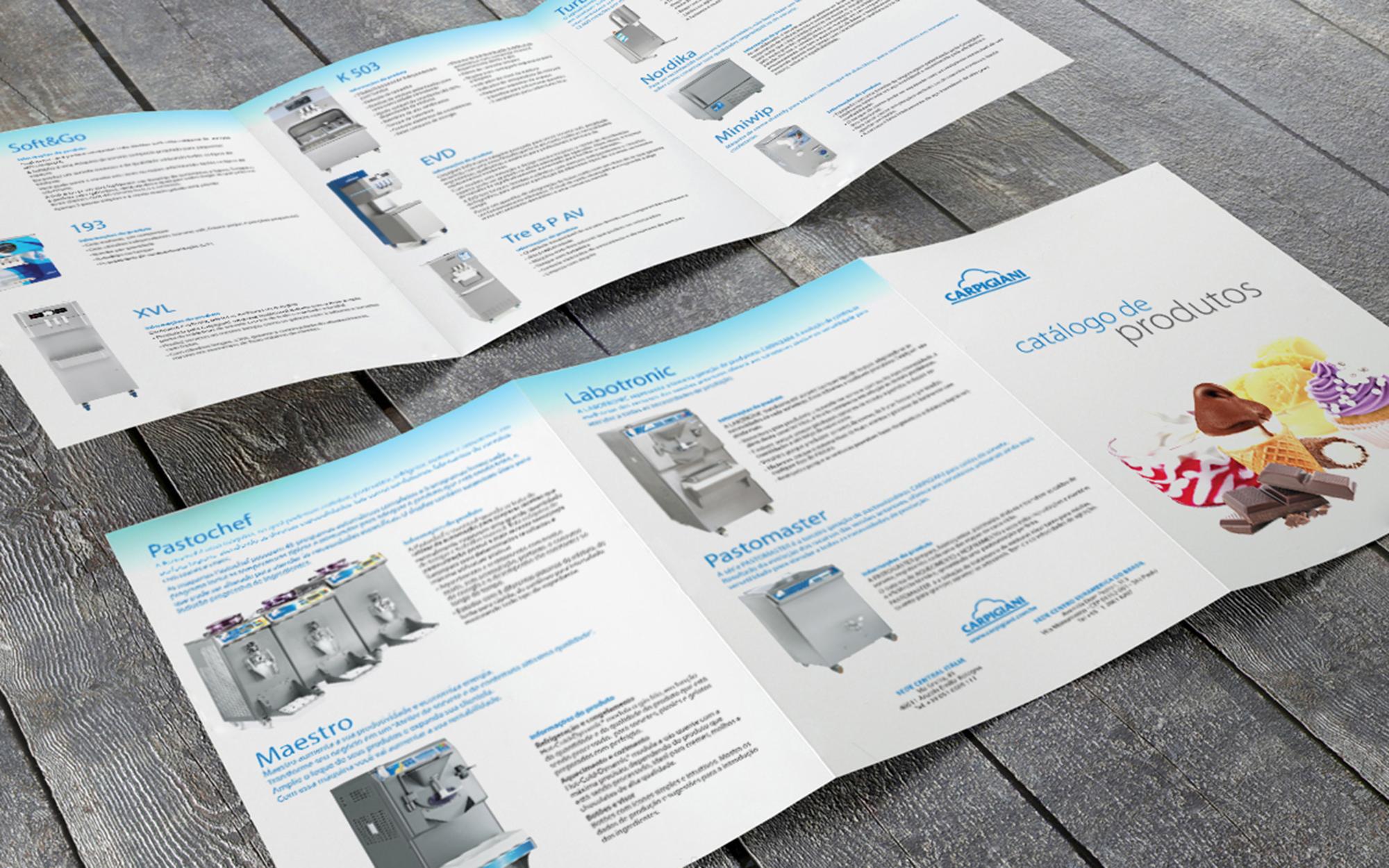 criação de folder indústria
